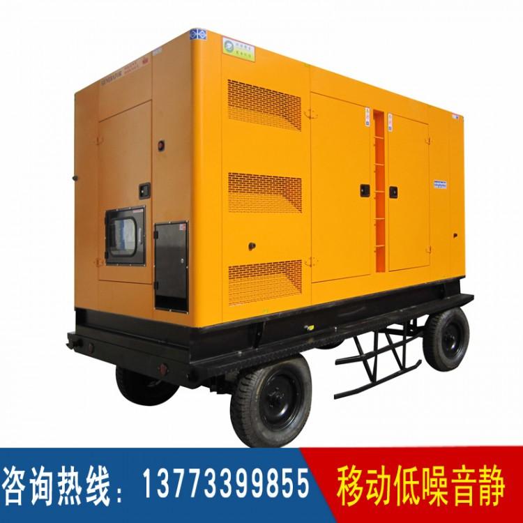250-300KW移动四轮低噪音箱体 12缸机组适用(不含机组)