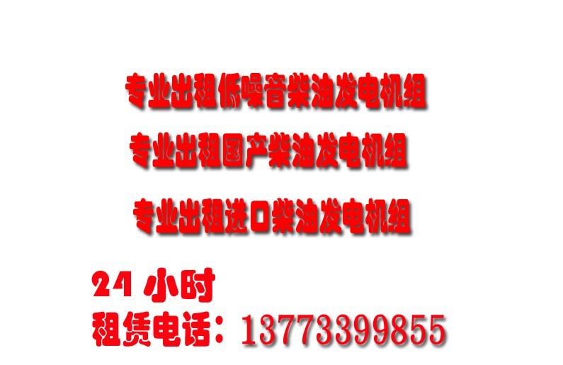 南通海安如皋发电机出租出租发电机型号齐全价格低